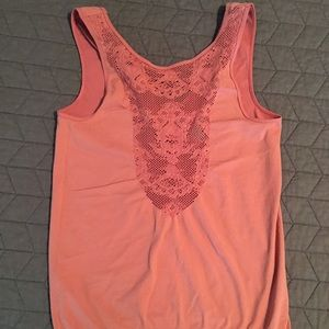 BKE stretchy tank. Coral color!!